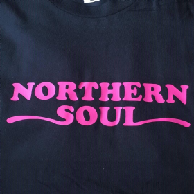 NORTHERN SOUL T-SHIRT BLACK & PINK